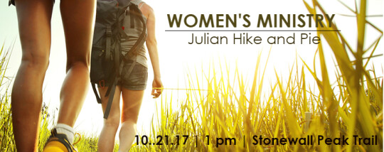 Women's Julian Hike and Pie Event